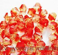 Cseh bicone 4mm - fireopal