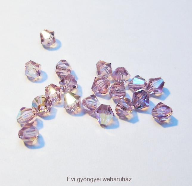 Cseh bicone 4mm - light amethyst ab