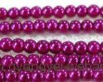 Tekla gyöngy 3mm - purple