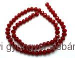 donut/fánk gyöngy 3mmx4mm - dark red coral