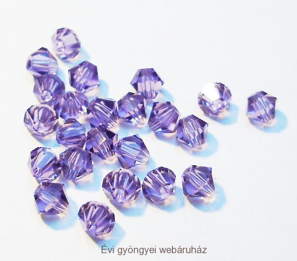 Cseh bicone 3mm - light tanzanite