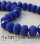 donut/fánk gyöngy 6mmx4mm - opaque blue