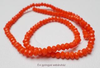 donut/fánk gyöngy 2mmx3mm - opaque orange