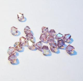 Cseh bicone 3mm - light amethyst ab