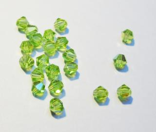 Cseh bicone 3mm - light olivine ab