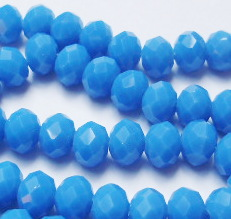 Donut/fánk gyöngy 6mmx8mm - aquamarine opal