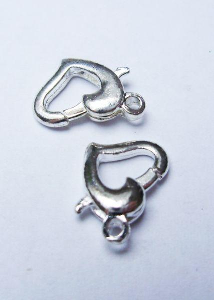 Delfinkapocs szív - ezüst