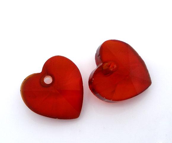 10mm szív - piros