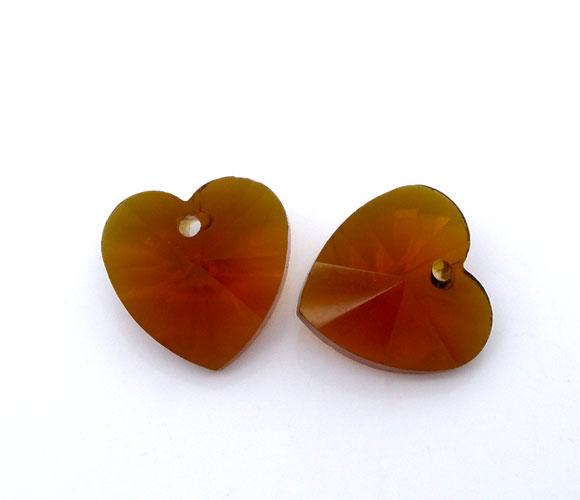 10mm szív - barna